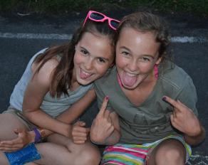 Mädchen Spaß im Feriencamp